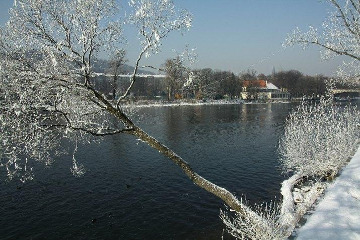 V Praze mrzlo